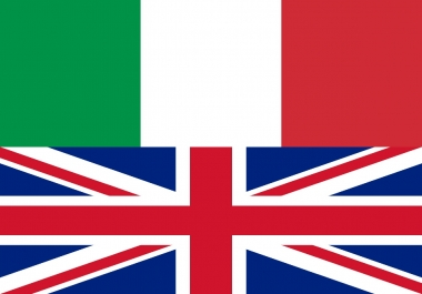 ✎ ENGLISH TO ITALIAN TRANSLATION ✎ 300 words