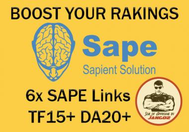 Build 6x SAPE links with TF15+ and DA20+