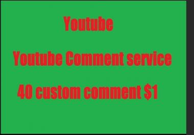 40 uTube custom comment very cheap