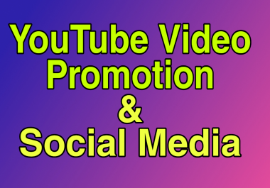 Social Media Marketing & YouTube Video Promotion