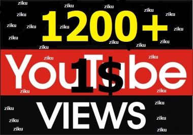 1000-1200+ Non Drop YouTube Vie ws with Lifetime Guarantee