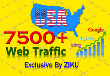send you 7500+ web traffic to your site or blog