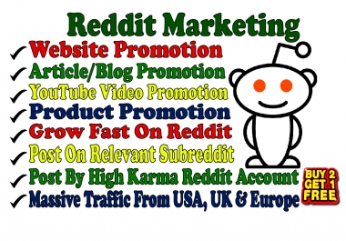 Promote Your Website On My High Karma Reddit Account