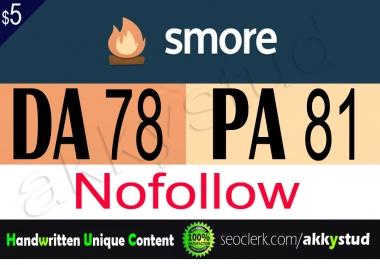 """write and publish unique guest post on """"Smore"""" DA-78"""