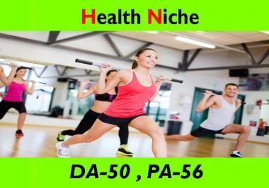 write and publish guest post on Health Niche Blogs DA-50