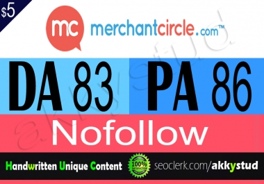 "write and publish guest post on ""Merchantcircle"" DA-83"