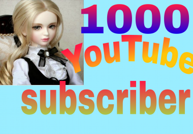 Instant provide 1000 YT NON DROP Subs very fast delivery in 3-8 hours just completed for 10$