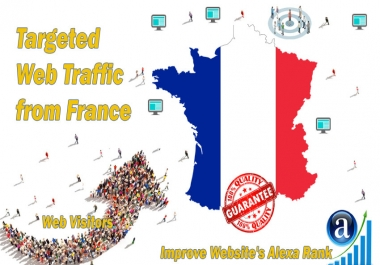 send real targeted geo traffic web visitors from France