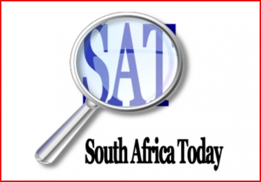 Write And Publish Guest Post On Southafricatoday.net dofollow news blog