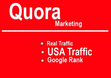 Promote your Website on QUORA with USA trafiic