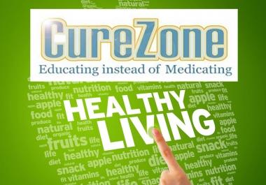 I will Publish A Guest Post On Health Niche Curezone With Da 62