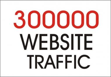 Real  300,000  Website Traffic Worldwide