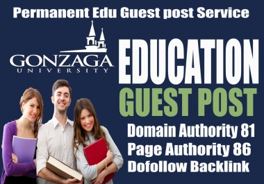 Top in search engine Ranking for Gonzaga University Edu blog post with Dofollow Backlinks