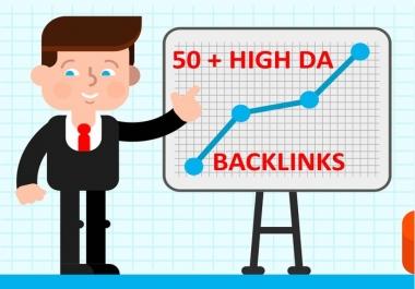 50 X Multi-Platform High DA Backlinks