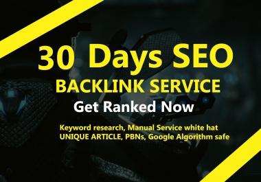 30 Days SEO Linkbuilding Service, Manual White Hat