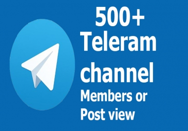 Buy Real active 550+ Telegram Channel Members or Post vie.ws or 100+ Group Members