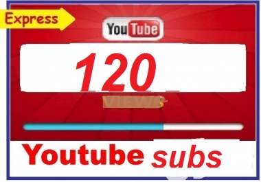 120+you tube subscriber  non drop guaranteed 12-24 hours in complete