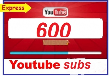 600+ you tube subscriber non drop gurenteed 12-24 hours in complete