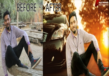 Do Professional Photo Retouching and change background