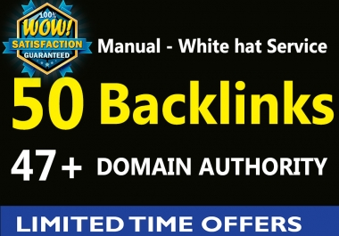 50 Backlinks from High DA 47+ Permanent Homepage - Boost your ranking