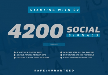 4200 Social Signals Baclinks for your website Ranking