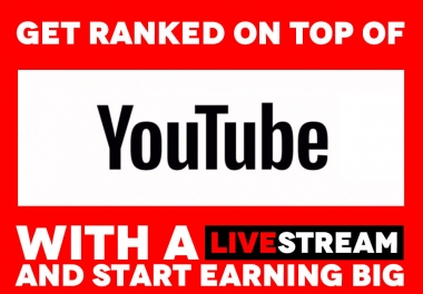 Deliver 100 YouTube LiveViewers on Your YouTube Livestream for 10 Hours