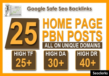 25 High Tf Cf Da Pa Homepage Pbn Backlinks Permanent
