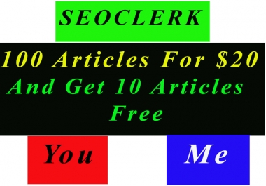 SEO Work with Special Offer writing