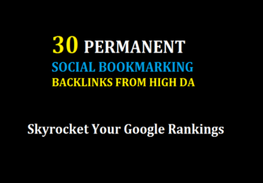 Add 30 Social Bookmarking For Google Rankings First page