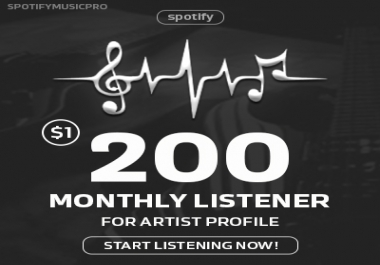 Speedy 200 Monthly Listeners for Artist Profile - Boost ranking & streams