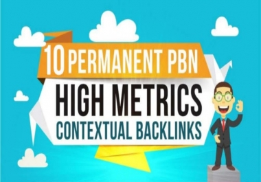 10 Manually Created High Trustflow Dofollow Homepage PBN Backlinks