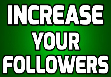 Promotion Get 1000 Real and Active Followers to your account