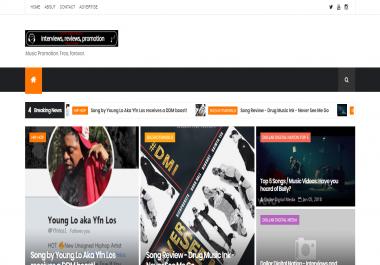 Review + Add Your Music to Dollar Digital Media.com (1k-3k impressions/week).
