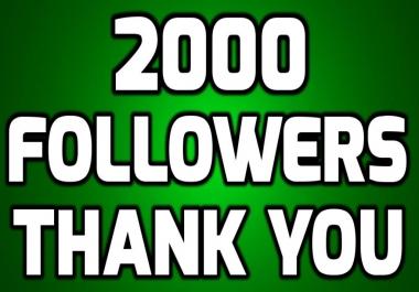 Buy 2000+ Followers Permanent UNIQUE PACKAGES