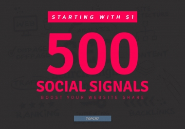 Boost Your Website Share 500+ Powerful Social Signals Backlinks with super fast speed
