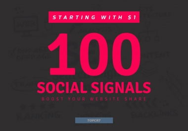 Boost Your Website Share 100+ Powerful Social Signals Backlinks with super fast speed