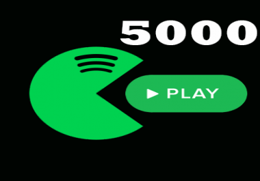5,000 Spotify Plays Cheapest & HQ Spotify Plays BEST service for spotify music