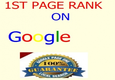 provide Google 1st page ranking service