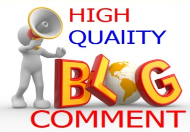 HIGH QUALITY NICHE RELATED 10 BLOG COMMENT