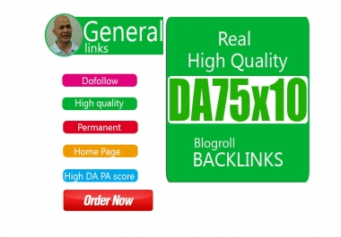 give your backlink DA75x10 site blogroll dofollow