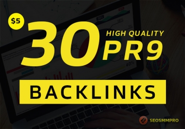 top rank on google by high PR and quality 30 seo backlinks
