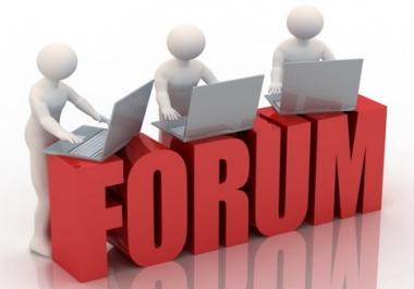 Provide 40 Forum Post backlinks
