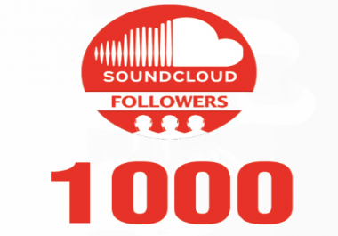 Instant 1000+ SOUNDCLOUD Followers Splitting Available HQ