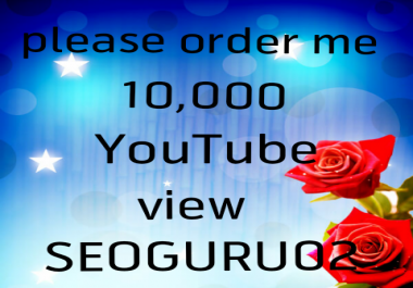 Limited Offer 10,000 Y ouTube view non dropped fast delivery granted