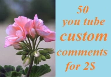 Give 50 you tube custom comments ,very fast delivery.