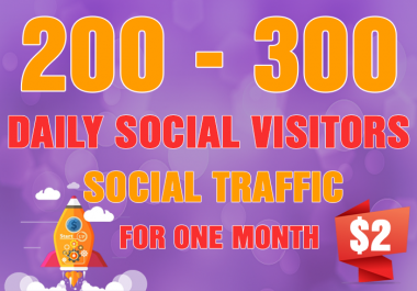 300+ Daily Social Targeted Traffic, Website