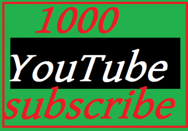 New offer 1000 REAL YouTube Subscribers nondrop Lifetime guarantee fast delivery
