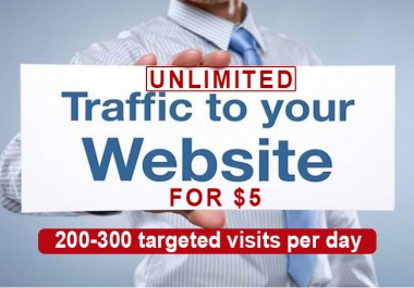 For Just 5 dollar you will get Unlimited Keyword Targeted, Organic Traffic for 5 days