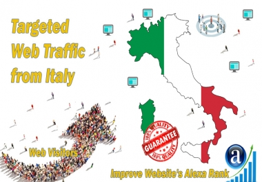 Send 25.000 Italy web visitors real targeted geo traffic