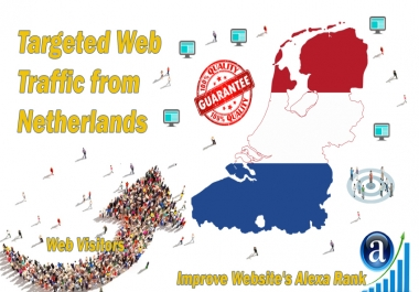 Send 25000 Netherlands web visitors real targeted geo traffic
